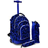 Школьный рюкзак на колесах - ранец JWORLD POLYPOP арт. RBS-16SPK Shadow Puzzle