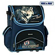 Школьный рюкзак раскладной Mike&Mar Майк Мар Волк арт. 1440-ММ-07 + пенал