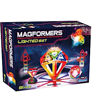 Магнитный конструктор Магформерс Светодиод 55 деталей артикул 63092