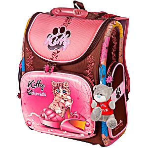 Школьный рюкзак – ранец HummingBird Kitty K83 с мешком для обуви